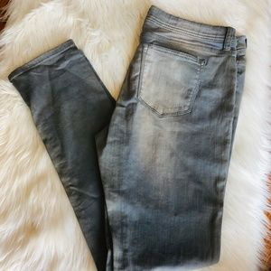 a.n.a skinny grey pants with faded wash